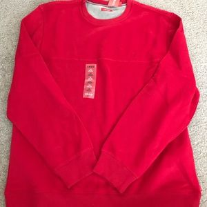 Izod sueded fleece sweatshirt • size large